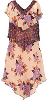 Anna Sui Camilla Printed Silk-Jacquard Mini Dress