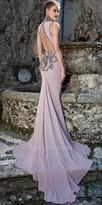 Tarik Ediz Grand rosestte evening dress
