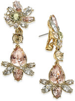 Givenchy Gold-Tone Multi-Stone Drop Earrings
