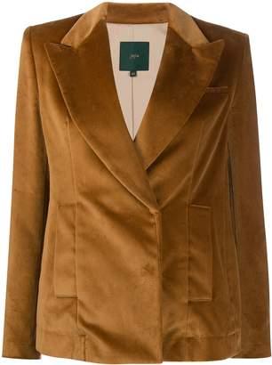 Jejia velvet single-breasted blazer