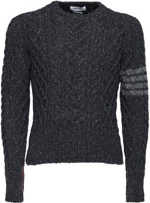 Thom Browne 4 Bar Wool & Mohair Knit Sweater