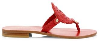 Jack Rogers Georgica Lasercut Braided Leather Sandals