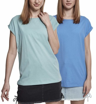 Urban Classics Women's Ladies Extended Shoulder Tee T-Shirt