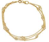 Neiman Marcus Diamonds 14k Yellow Gold By-The-Yard Diamond Bracelet