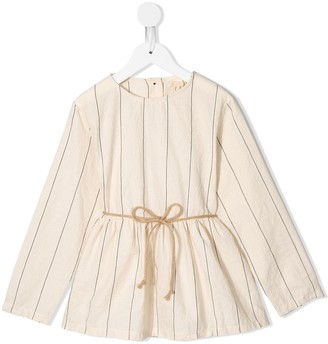 Little Creative Factory Kids Striped Tie-Waist Blouse