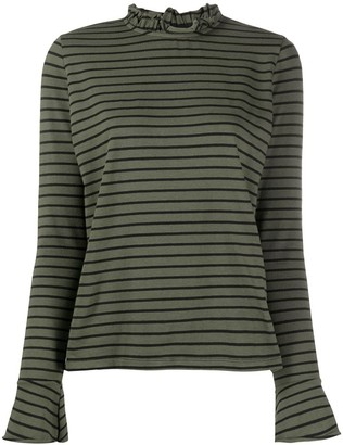 Danielapi Striped-Print Crew Neck Top