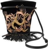 Roberto Cavalli Tassel Embroide bag