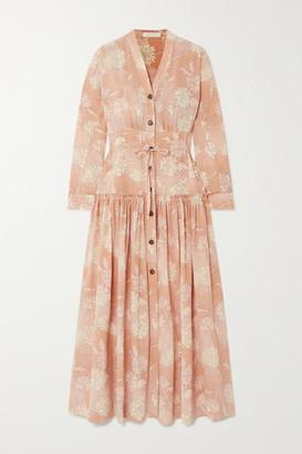 Chloé Floral-print Silk Crepe De Chine Maxi Dress - Pink