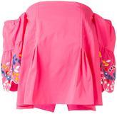Peter Pilotto taffeta embroidered corset top - women - Polyester/Cotton/Polyamide/Spandex/Elastane - 8