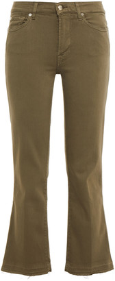 7 For All Mankind Frayed Mid-rise Kick-flare Jeans