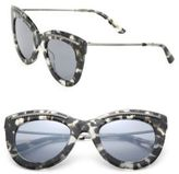 Bottega Veneta 49MM Intrecciato-Trim Cat's-Eye Sunglasses
