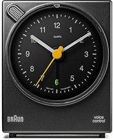 Braun Classic Voice Activated Alarm Clock BNC004BKBK - Black