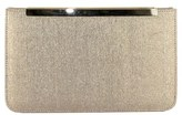 Menbur Metallic Clutch - Beige