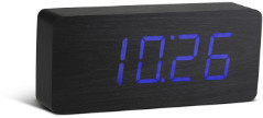 GINGKO Slab Click Clock Black