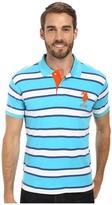 U.S. Polo Assn. Slim Fit Striped Interlock Polo
