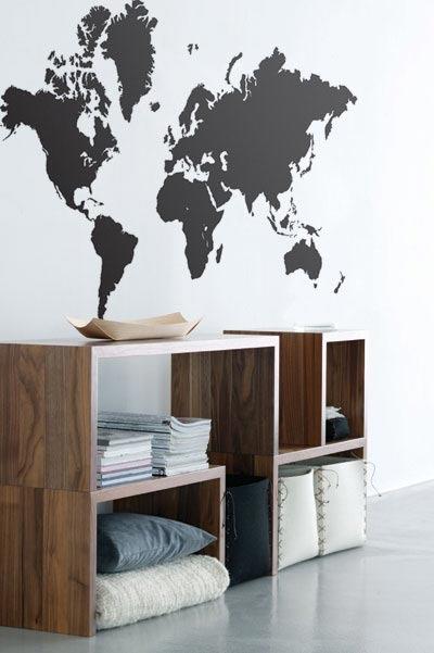 ferm LIVING World Map Wall Sticker