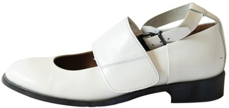 Acne Studios White Leather Ballet flats