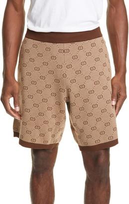 Gucci GG Supreme Wool Blend Knit Shorts