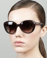 Jimmy Choo Tita Large Cat-Eye Sunglasses, Brown