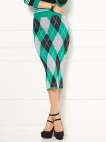 New York & Co. Eva Mendes Collection - Ilaria Argyle Sweater Skirt - Petite