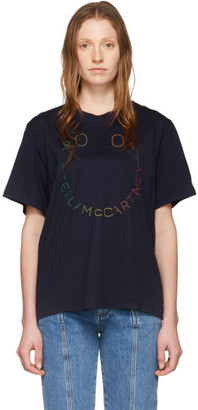 Stella McCartney Navy Happy Logo T-Shirt