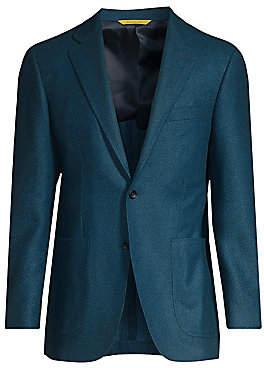 Canali Men's Chevron Wool Sport Jacket