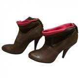 BCBGMAXAZRIA Brown Leather Ankle boots