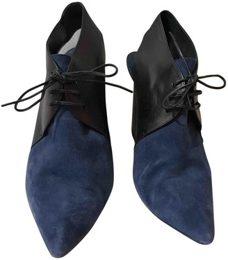 Christian Dior \N Blue Suede Ankle boots