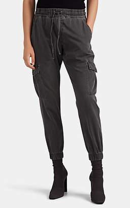 NSF Women's Johnny Cotton Cargo Jogger Pants - Black
