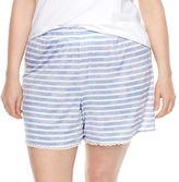 SONOMA Goods for Life Plus Size SONOMA Goods for LifeTM Pajamas: Essential Scallop Hem Shorts