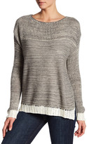 Honey Punch Slouchy Split Side Pullover Sweater