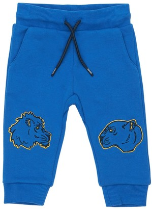 Kenzo Kids Tiger Embroidered Cotton Sweatpants
