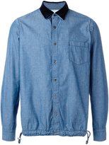 Sacai denim drawstring shirt