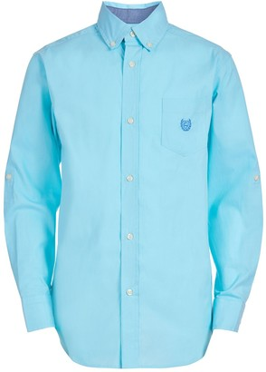 Chaps Boys 4-20 Long Sleeve Stretch Chambray Woven Shirt