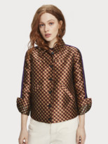 Scotch & Soda Houndstooth Jacquard Trucker Jacket | Women