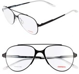 Women's Carrera Eyewear 53Mm Aviator Optical Frames - Black