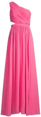 BCBGMAXAZRIA One-Shoulder Cutout Gown