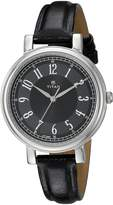 Titan Women's 'Neo' Quartz Metal and Leather Automatic Watch, Color: (Model: 2554SL02)