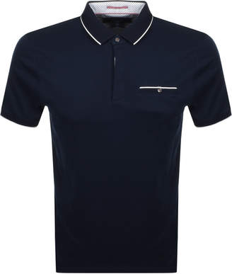 Ted Baker Fincham Polo T Shirt Navy