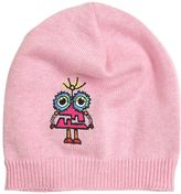 Fendi Monster Embroidered Cotton Knit Hat