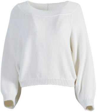The Row Yasima Textured Knit Top White