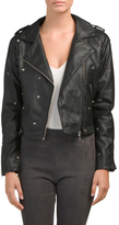 Juniors Star Studded Biker Jacket
