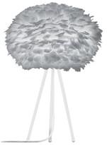 EOS Umage UMAGE - Medium Light Grey Feather White Tripod Table Lamp - Grey/White