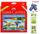 Faber-Castell Watercolor Pencil Faber Castell Color Best Colored Pencil for Adult Coloring Book with Free Premium Faber Castell Eraser by Faber Castell