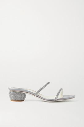 Rene Caovilla Crystal-embellished Leather Sandals - Silver