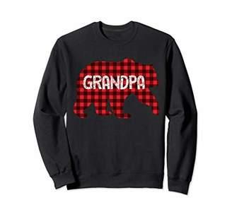 Buffalo David Bitton Grandpa Bear Plaid Lumberjack Christmas Family Xmas Sweatshirt