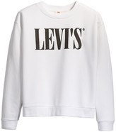 Levi's Cotton Mix Pullover Sweatshirt with Logo and Crew-Neck