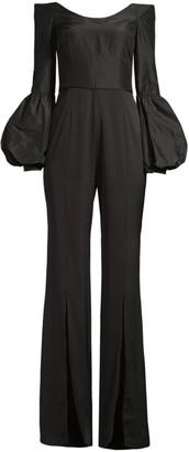 Flor Et. Al Katherine Off-The-Shoulder Puff Sleeve Jumpsuit