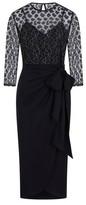 Dorothy Perkins Womens Little Mistress Black Lace Midi Dress, Black