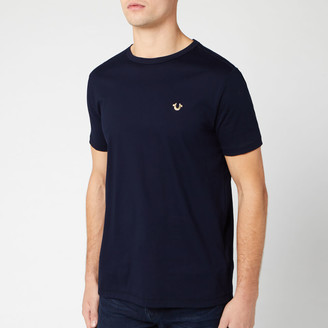 True Religion Men's Metal Horseshoe Crew T-Shirt - Navy - S